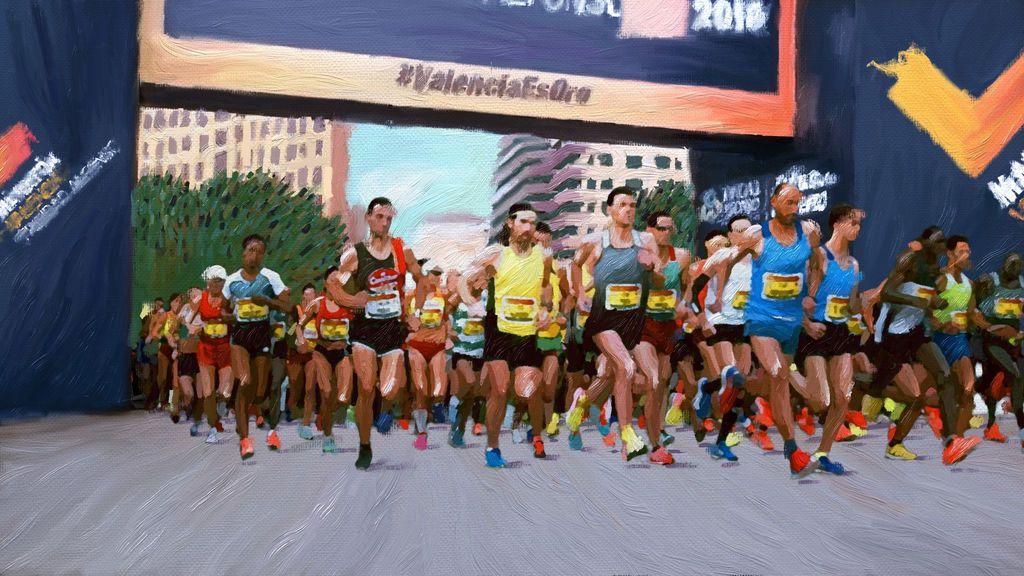 Pintura Salida Maraton 1