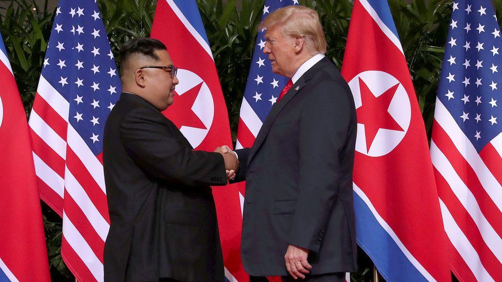 Donald Trump y Kim Jong Un mantienen un encuentro hístorico en Singapur