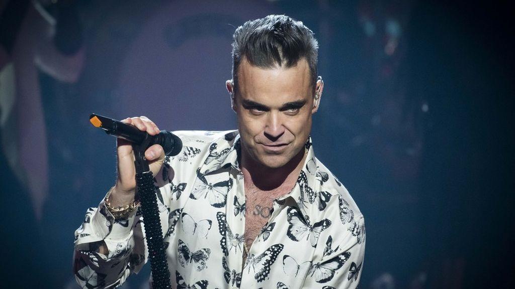 El cantante Robbie Williams, en uno de sus conciertos.