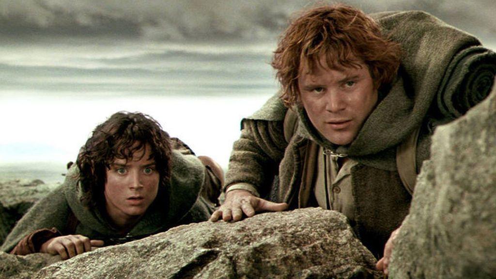 Elijah Wood (Frodo) y Sean Astin (Sam), en 'El señor de los anillos: Las dos torres'.