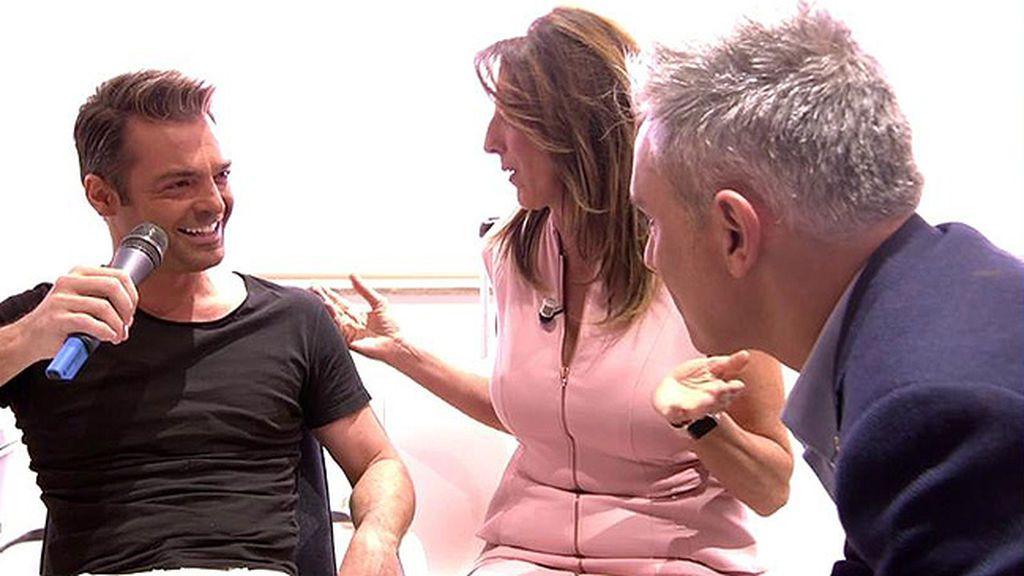 ¡Paz Padilla y Kiko Hernández se cuelan en el camerino de Hugo Castejón!