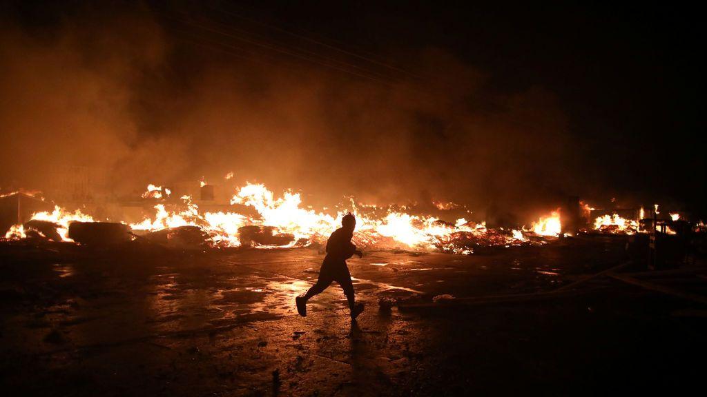 Pánico ante el fuego en Haití