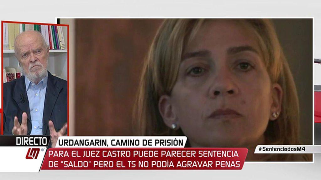 """Martín Pallín, magistrado, valora la sentencia de Nóos: """"Parece suave"""""""