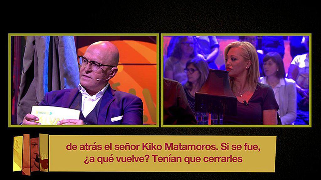 """Kiko Matamoros afronta las primeras llamadas de la audiencia: """"Quien se va sin que le echen vuelve cuando le da la gana"""""""