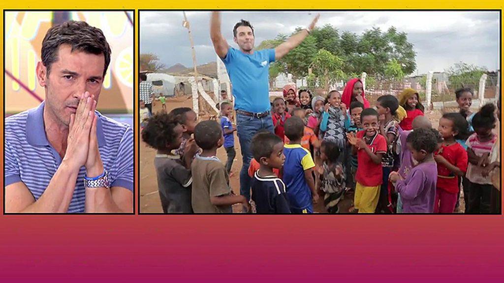 Jesús Vázquez presenta la nueva campaña de '12 meses' cuyo objetivo es ayudar a niños que llegan solos a los campos de refugiados