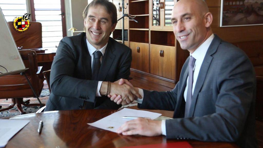 Sigue en directo la rueda de prensa de Rubiales y Lopetegui tras anunciar su fichaje por el Madrid