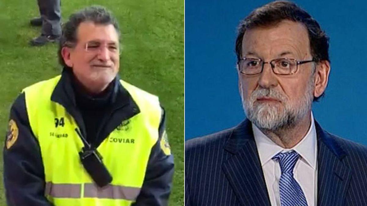 Mariano Rajoy 'reparece' en Pucela convertido en vigilante de seguridad