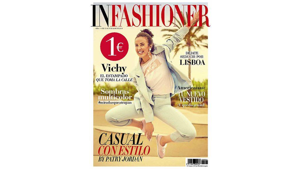 La 'influencer' Patri Jordan, en la portada del primer número de la revista 'InFashioner'.