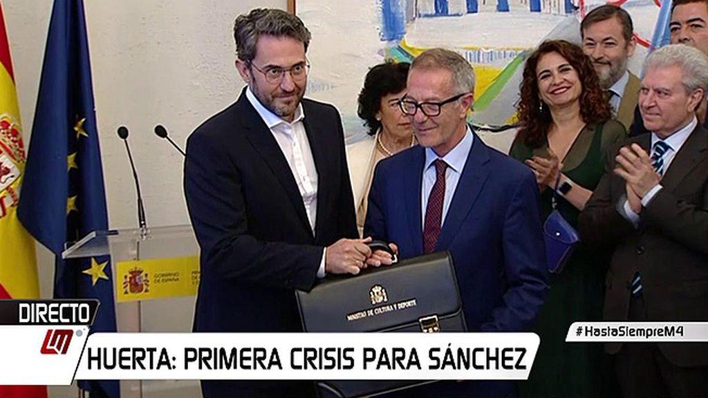 """Màxim Huerta da el relevo a José Guirao: """"Como si de un libro se tratara, paso página"""""""