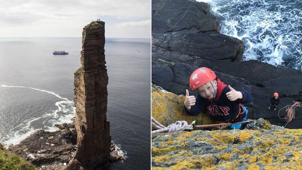 Un niño de ocho años escala un acantilado de casi 140 metros para ayudar a su madre, que sufre cáncer terminal