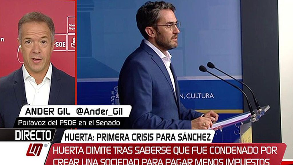 """Ander Gil, sobre Màxim Huerta: """"Nos hubiera gustado tener más información y haber valorado las cosas en su momento"""""""