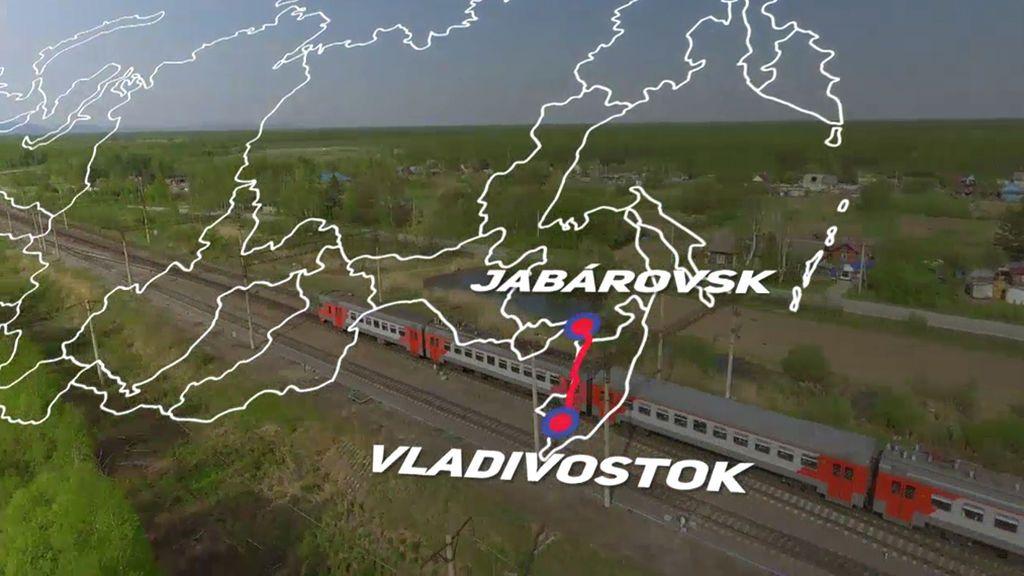 El transiberiano, un tren cuyo raíl es más grande que toda Europa