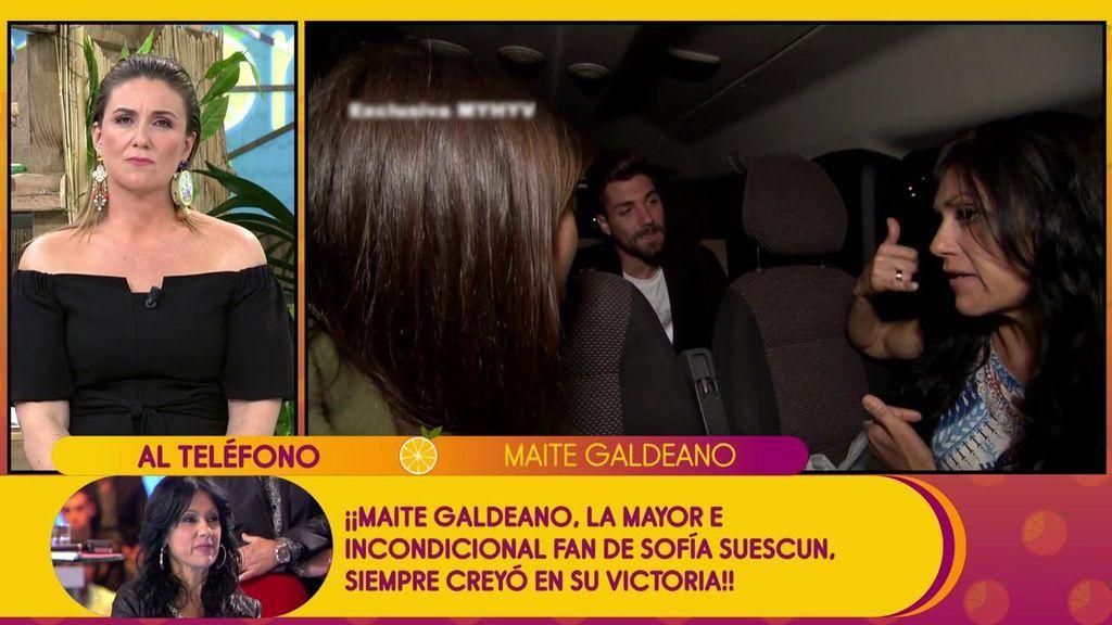 "Maite Galdeano: ""Sofía no va a perdonar a Alejandro, somos muy celosas las dos"""