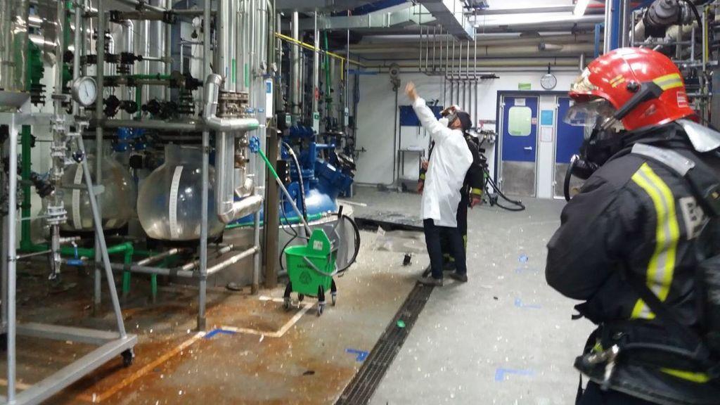Tres heridos en una explosión en un laboratorio farmaceútico de Valladolid