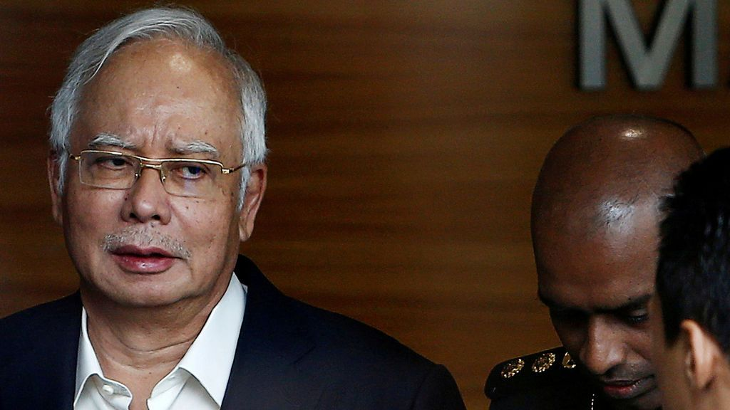 Nayib Razak ante la Comisión Anticorrupción de Malasia