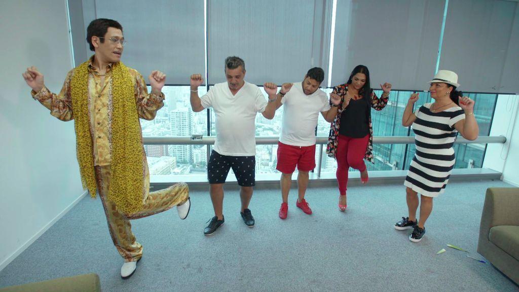 Pikotaro, toda una inspiración para los Fernández Navarro, enseña a bailar su tema estrella
