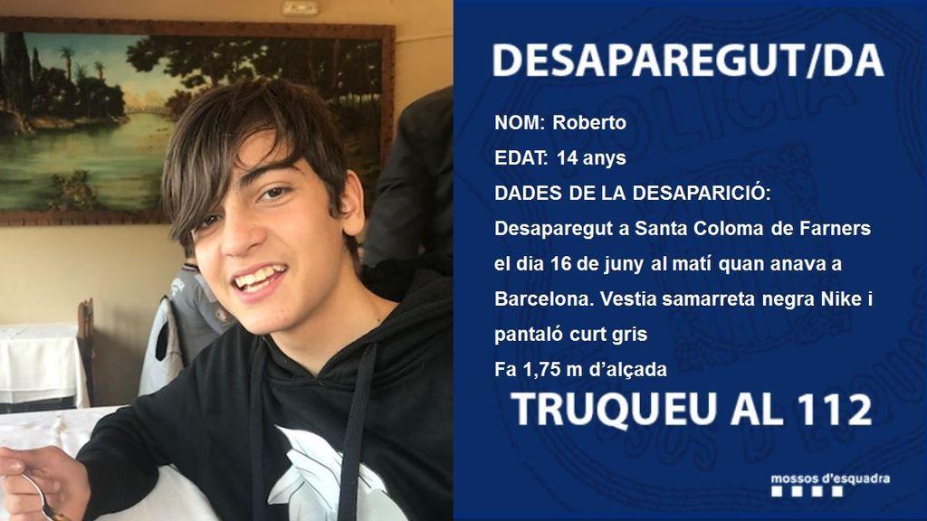 Desaparece un niño de 14 años en Santa Coloma de Gramenet (Barcelona)