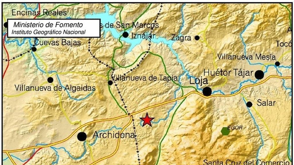 Un terremoto de 4.1. sacude levemente Granada con epicentro en Loja