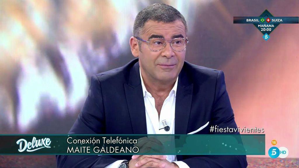 """Jorge Javier calla a Maite Galdeano: """"Lo que te pasa es que quieres ser Sofía Suescun"""""""