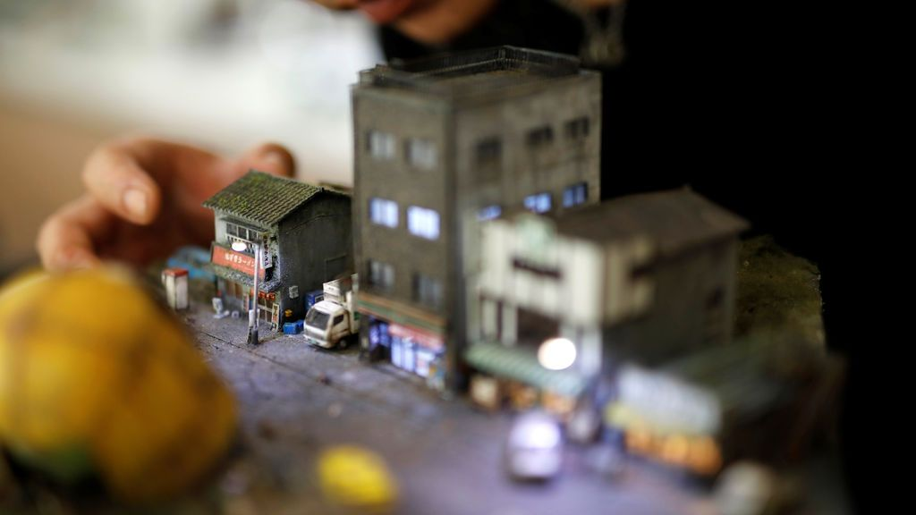 Un taiwanés recrea escenas callejeras en miniatura