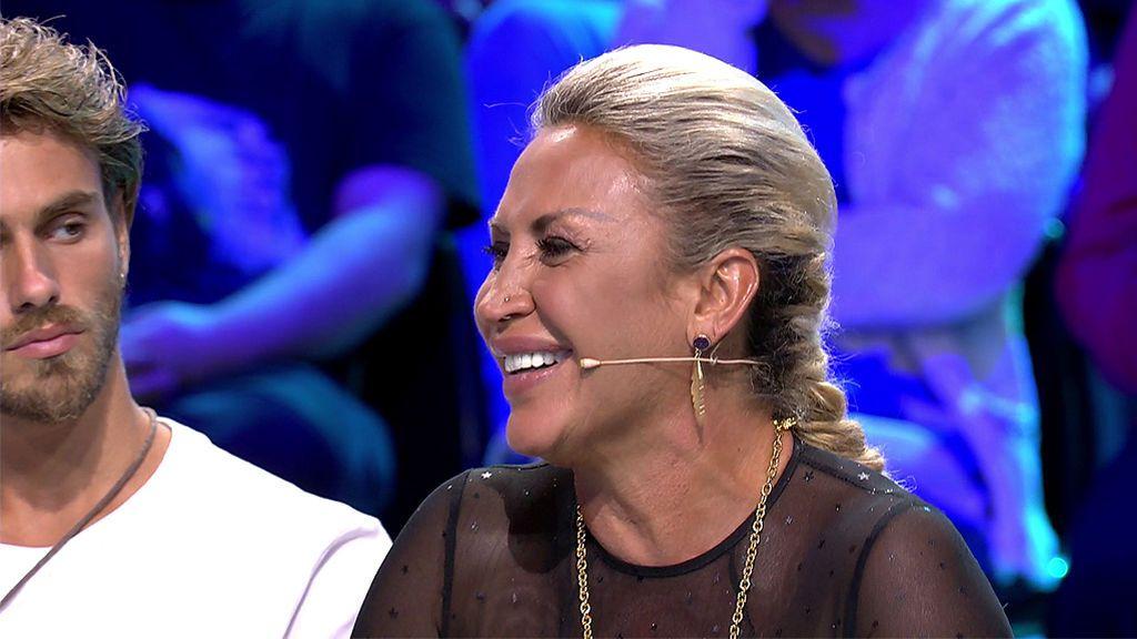 Raquel no confirma ni desmiente su 'noche de pasión' con Isi, pero su cara la delata