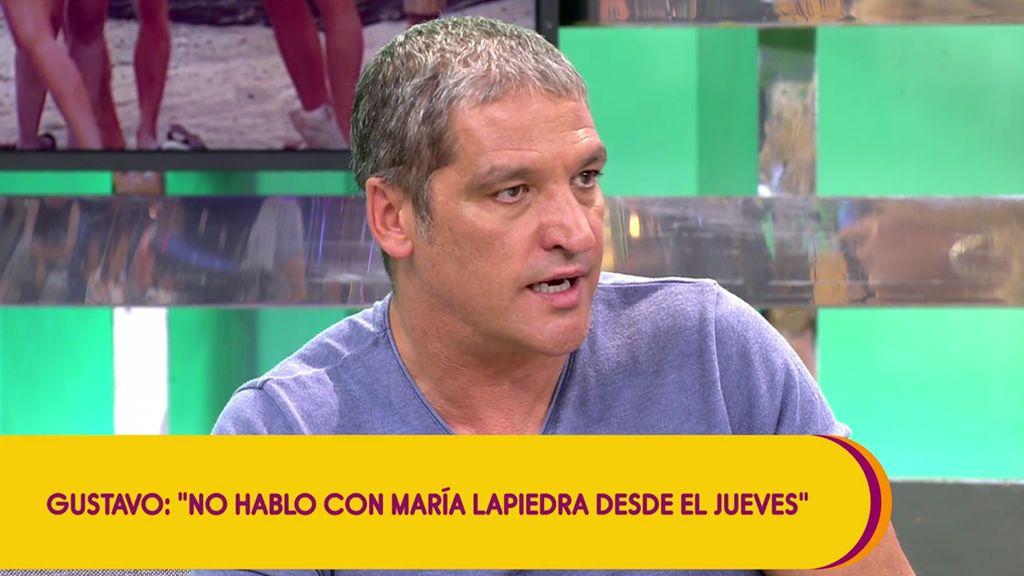 Gustavo sigue sin hablar con María Lapiedra