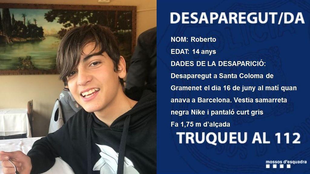 Búsqueda desesperada del niño de 14 años desaparecido en Santa Coloma de Gramenet
