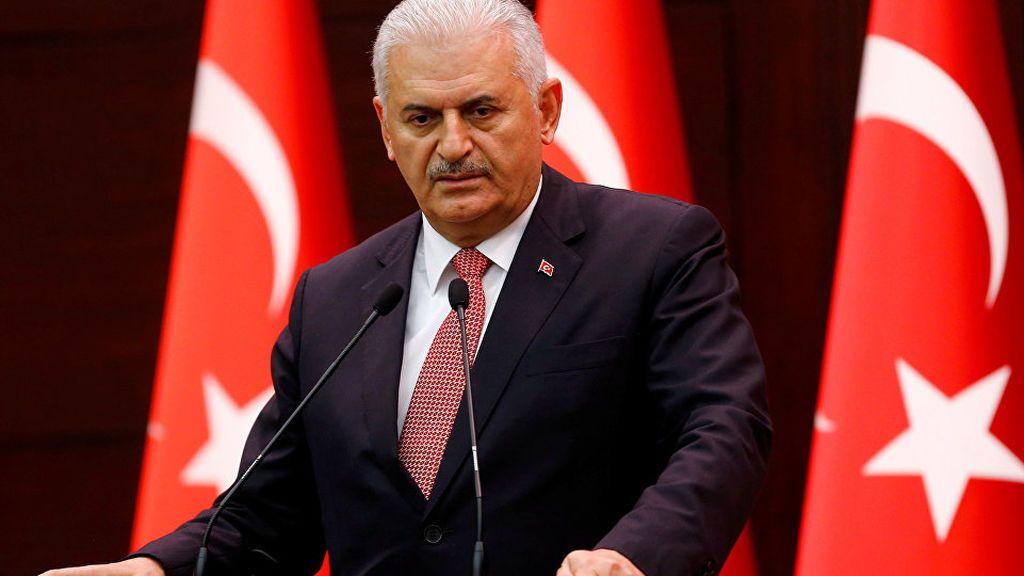 El primer ministro de Turquía, Binali Yildirim.