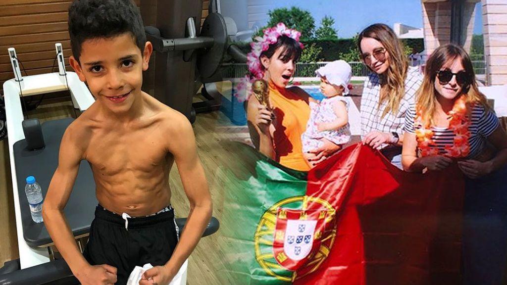 Espuma, piscina y sin papá: la fiesta de cumpleaños de Cristiano Junior, al detalle
