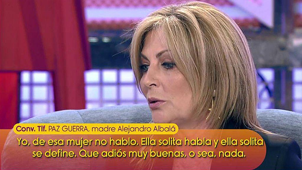 """Paz Guerra defiende a su hijo Alejandro Albalá: """"No ha sido desleal porque en ese momento no tenía pareja"""""""