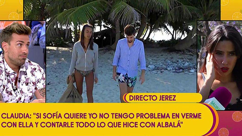 """Sofía Suescun cree que Alejandro le ha sido desleal: """"Cree que se besó con Claudia"""""""