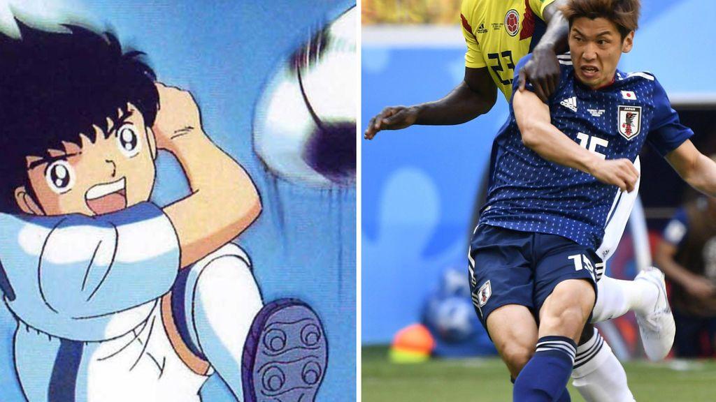 Oliver y Benji se convierten en 'Trending Topic' tras la victoria de Japón ante Colombia