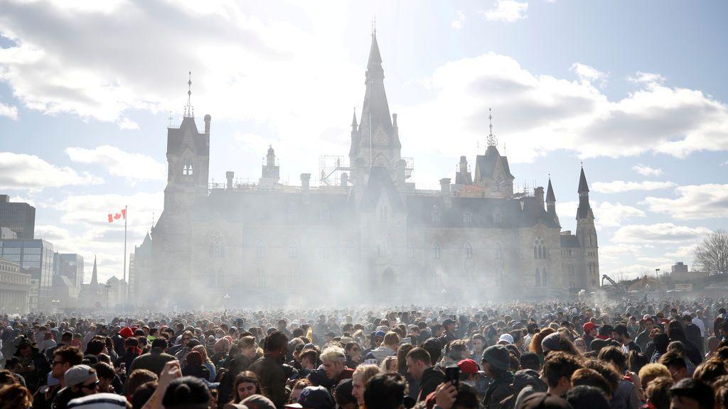 Manifestación a favor de la legalización de la marihuana