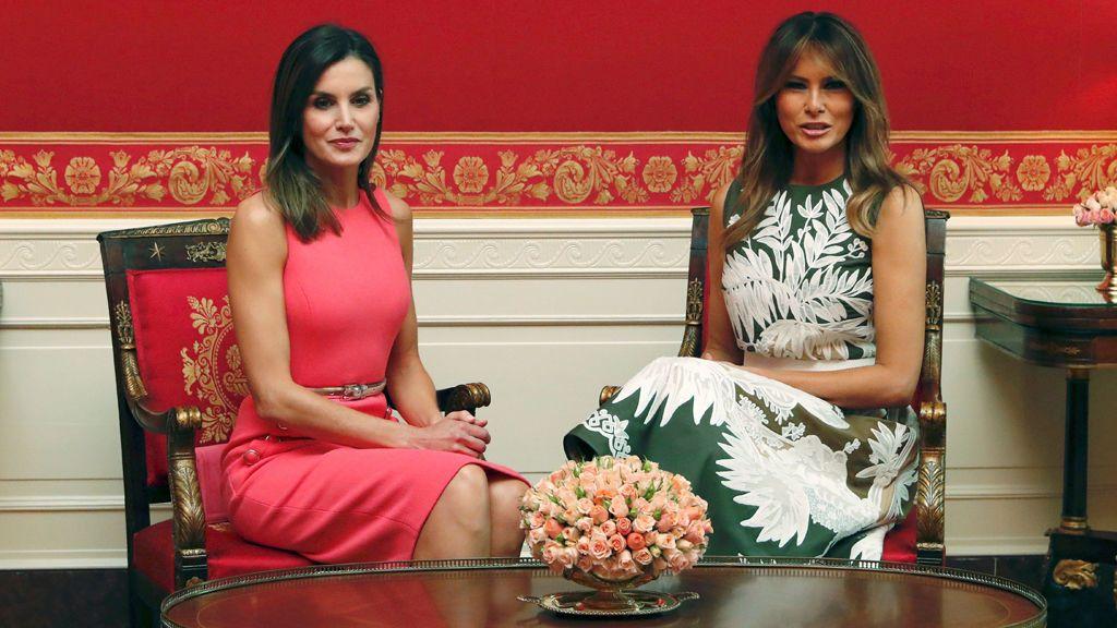 """Melania Trump y la reina Letizia hablaron de cómo """"tener un impacto positivo en los niños"""""""