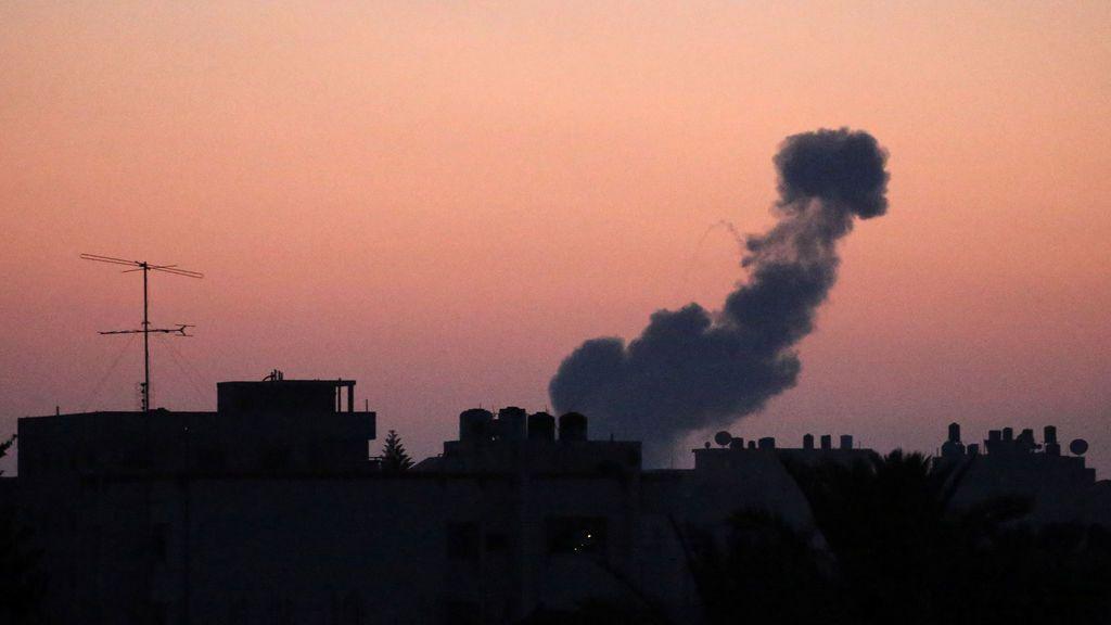 Bombardeo aéreo en Gaza