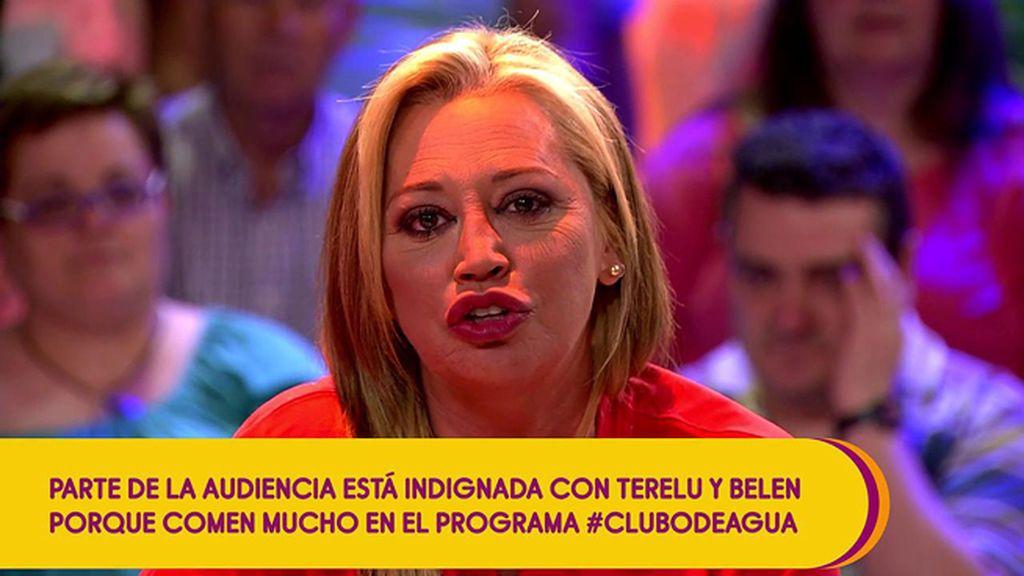 """La audiencia recrimina a Belén Esteban y Terelu que merienden en directo: """"¿Vienen a trabajar o a comer?"""