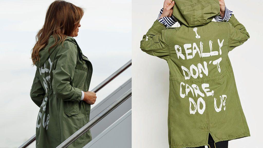 Melania Trump visita un centro de detención de niños migrantes llevando una chaqueta con un polémico mensaje