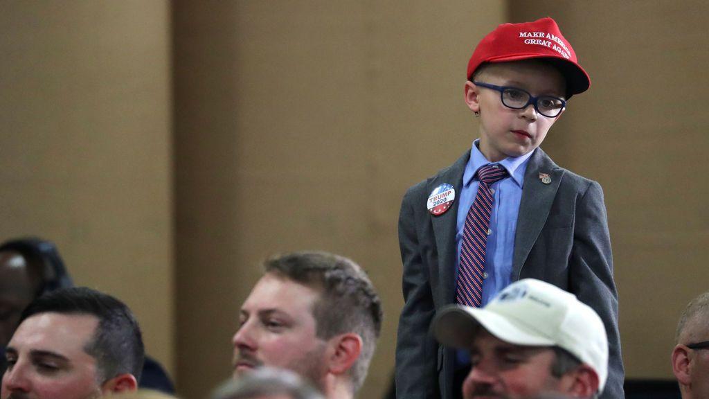 ¿El seguidor más joven de Donald Trump?