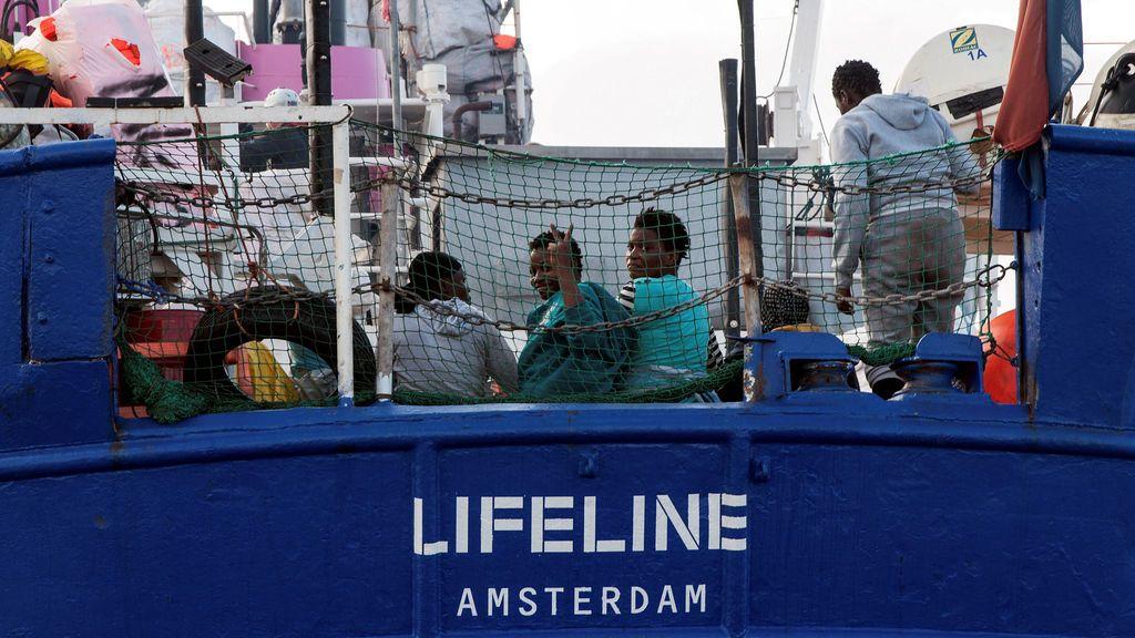 Migrantes rescatados en el Mediterráneo Central