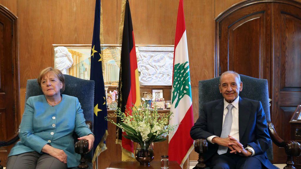 Angela Merkel se reúne con el Presidente del Parlamento libanés