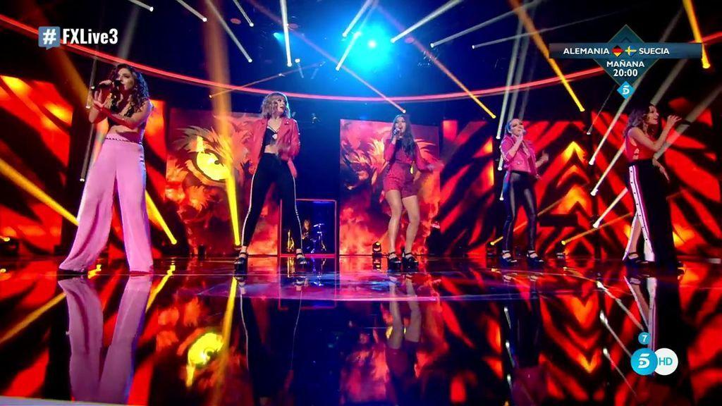 Las chicas de Noah se ponen guerreras cantando 'Eye of the Tiger' y se retan con Risto Mejide