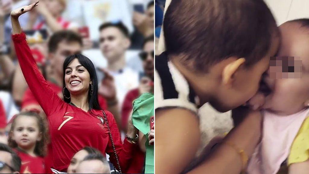 El vídeo más tierno de los bebés de Georgina y Cristiano y la enseñanza de sus padres sobre el amor