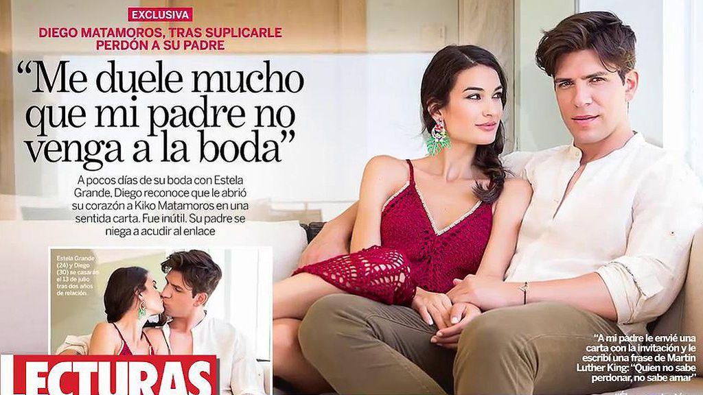 "Diego posa para 'Lecturas' antes de su boda con Estela: ""Me duele que mi padre no venga"""