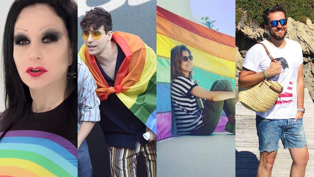 Alaska, Pilar Rubio, Ambrossi, Maxim Huerta... Los VIPs celebran el Orgullo en redes