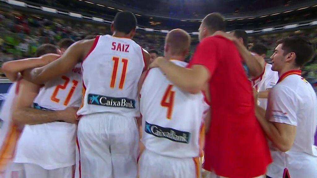 España se relaja en el último minuto y Eslovenia recorta pero se queda a 11 puntos