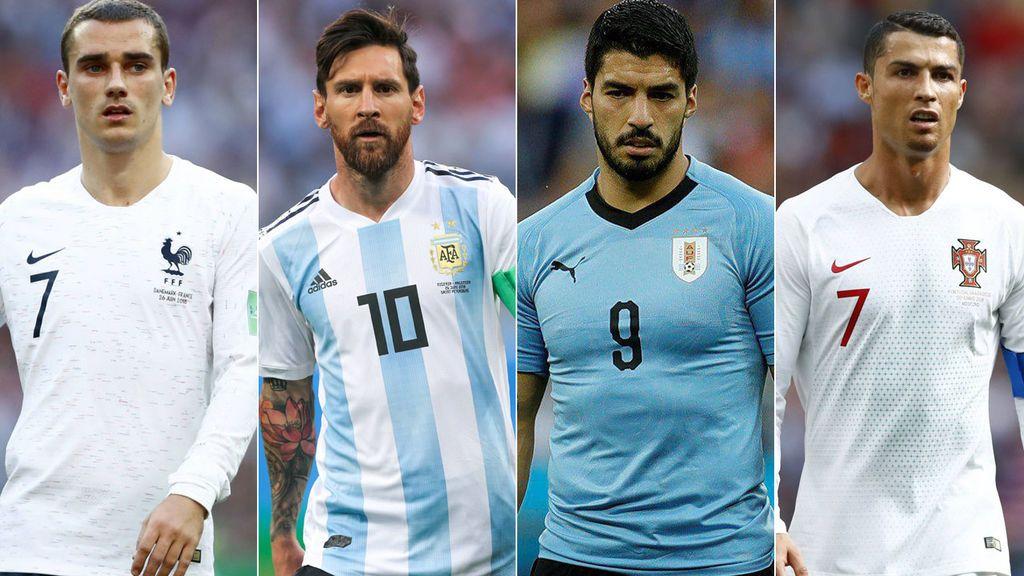 Francia - Argentina a las 16.00h en Cuatro y Uruguay - Portugal a las 20.00h en Telecinco, este sábado