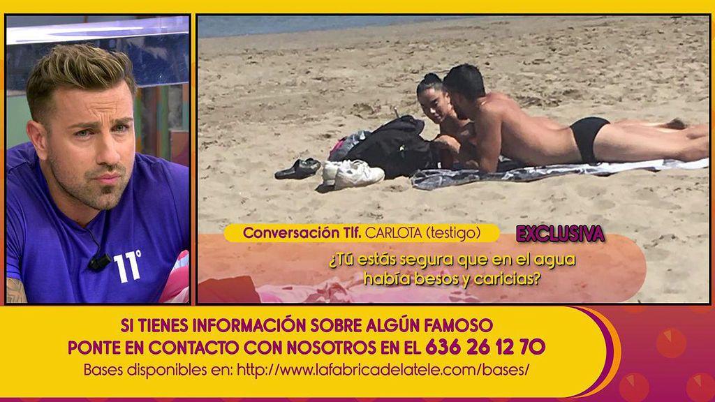 """""""Hubo besos y caricias en el agua"""": La autora de las fotos confirma la deslealtad de la novia de Rafa Mora"""