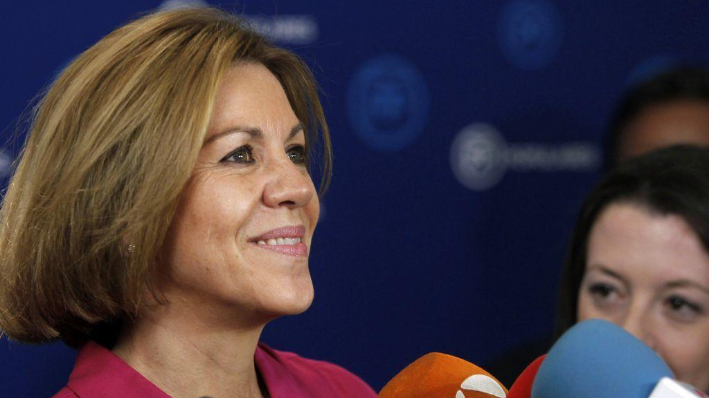 Cospedal pide a los candidatos una declaración conjunta contra la excarcelación de presos de ETA