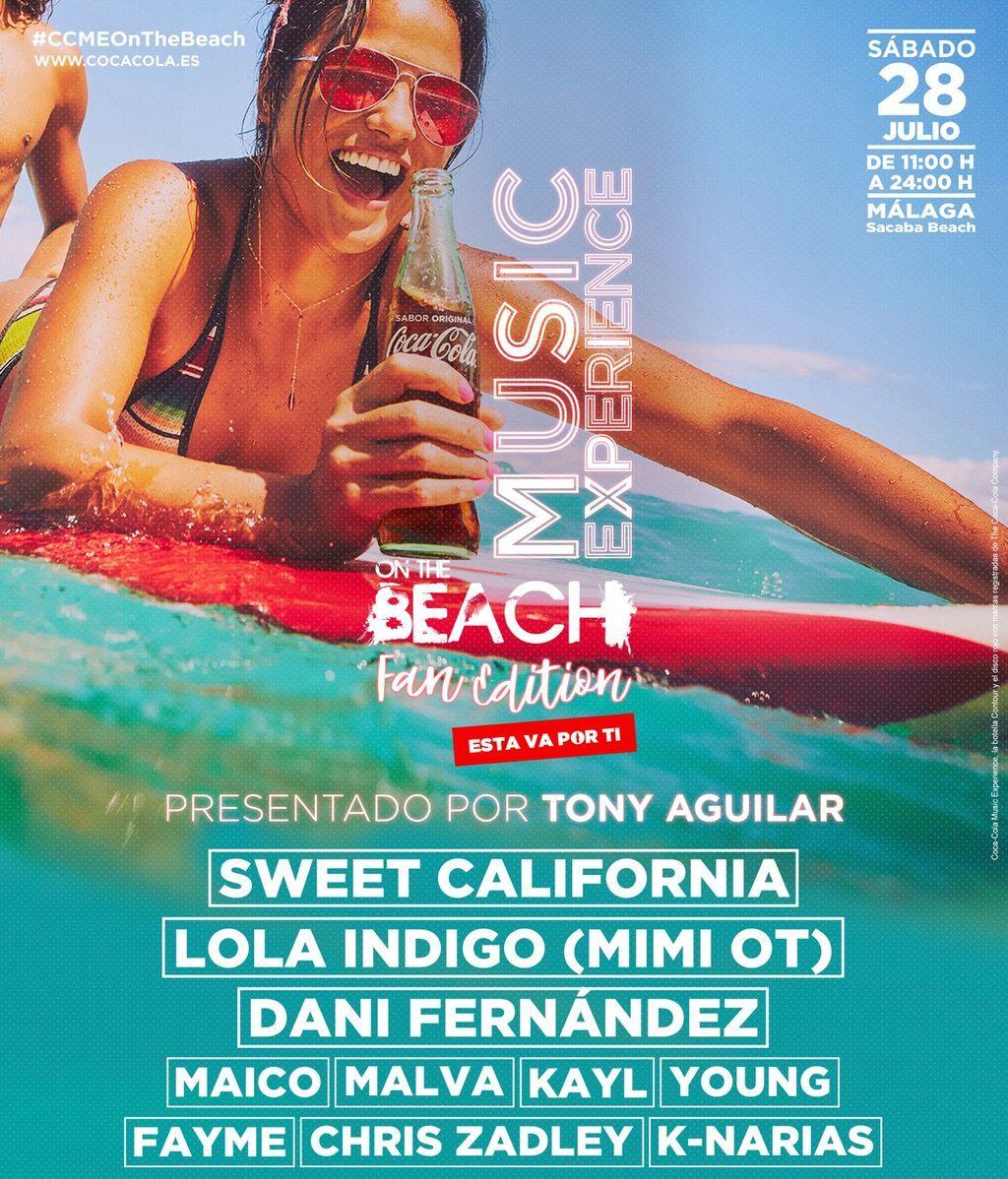 ¡Comienza la cuenta atrás para el Coca-Cola Music Experience On The Beach!