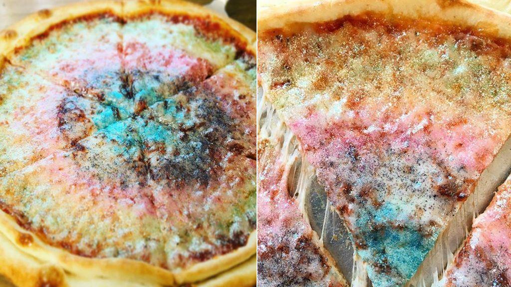 Ya puedes comer pizza ¡con purpurina!